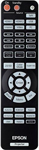 Bild 7: Epson EH-TW6100 3D Heimkino 3LCD-Projektor (Full HD 1080p, 2.300 Lumen Weiß & Farbhelligkeit, 40.000:1 Kontrast, 2x HDMI (1x MHL), inkl. 1x 3D Brille) schwarz