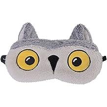 Cute Animal Fluffy Novelty Sleep, Eye Mask, Blindfold with 3D Ears, Cat, Owl, Panda, Rabbit, Snowy Owl or Pug