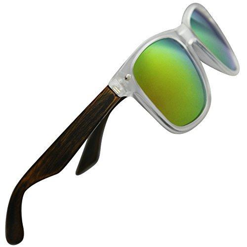 Eye love -  occhiali da sole  - uomo multicolore clear with pear wood temples