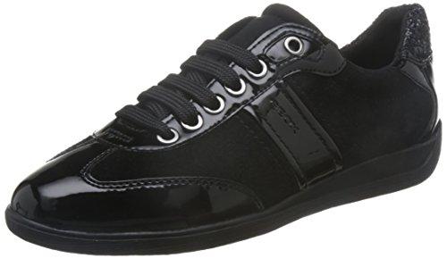 Geox Damen D Ophira A Sneaker, Grau (Dk Grey), 38 EU (Geox-schnür-sneakers)