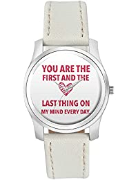 BigOwl You Are The First And The Last Thing On My Mind Everyday | | For Couples Him/Her Fashion Watches For Girls...