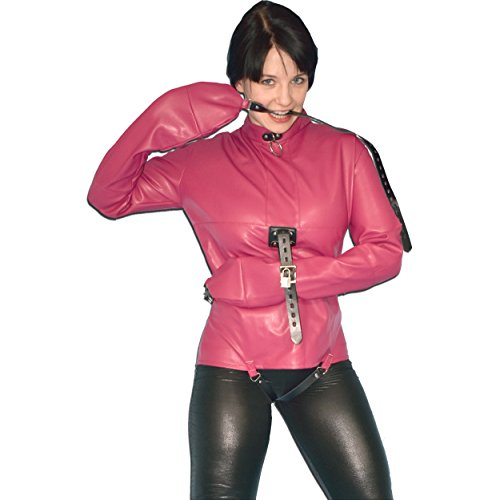 Weiche Bondage Zwangsjacke aus Kunstleder - Houdini Kostüm