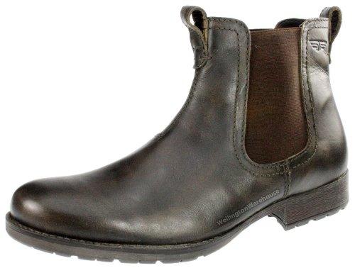 Red Tape Herren schwarz und braun Echtleder Rot Lake chelsea-boots UK 7-12 Braun