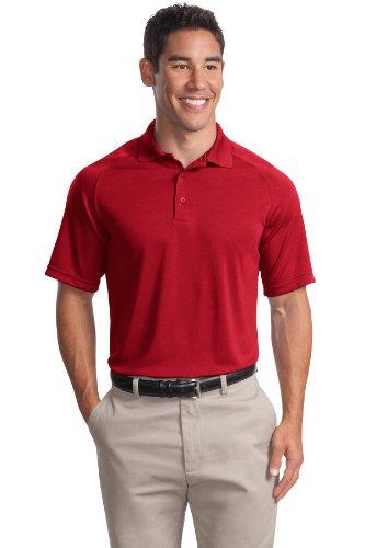 Sport-Tek Herren Button-down Poloshirt True Red