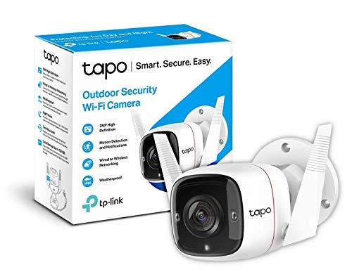Oferta de TP-Link TAPO - Cámara de Vigilancia WiFi exterior/interior, 3MP Resolución. Audio Bidireccional, Visión Nocturna, Detección de Movimiento, Compatible con Alexa o Google Assistant (TAPO C310)