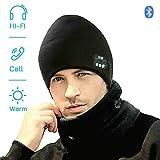 EXCOUP Bonnet Bluetooth - Unisexe Music Bonnet Bluetooth Chapeau avec écouteurs Stéréo sans Fil, Doux Chaleureux Bluetooth Chapeau d'hiver, Convient à Sports, Ski, Patinage, Marche