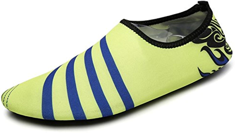 Lucdespo nuevo par de zapatillas de playa,rayas verdes,31-32