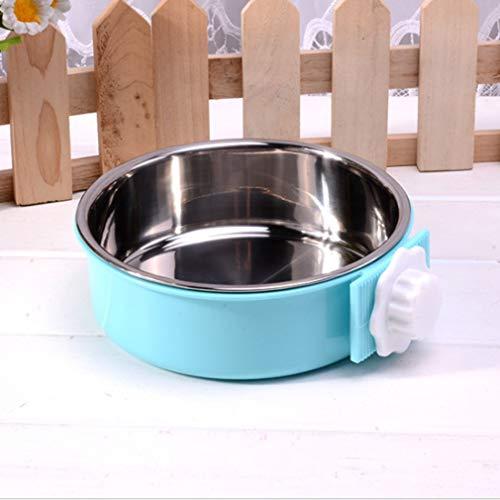 Light Blue Plastic Bowls (DERNON Edelstahl Pet Bowl Cage Hundenapf Hanging Water Food FeederLight Blues hellblau)