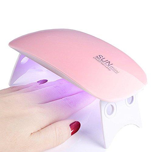 Skitic 6W UV LED Nagellampe Nageltrockner UV Lampe Nail Lamp Licht-Lampe für Nägel Nagellack Maniküre Pediküre 45s/60s Profi Trocknergerät Aushärtelampe