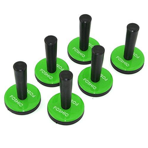 FOSHIO 6er Set Magnete mit Kunststoffgriff Extrem Stark für Verkleben, Autofolierung, 43mm -