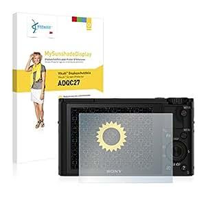 Vikuiti ADQC27 Displayschutz Schutzfolie Sony Cyber-Shot DSC-RX100 (Kristallklar und Reflexmindernd, Blasenfreie Montage, Passgenauer Zuschnitt)