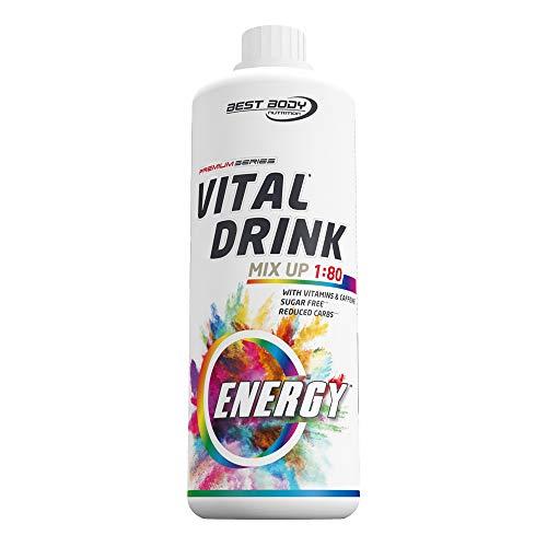 Best Body Nutrition Vital Drink Energy Sirup 60 mg Koffein, Getränkekonzentrat, 1000ml Flasche