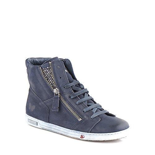 Felmini - Scarpe Donna - Innamorarsi com Jomar 8578 - Sneakers - Pelle Genuina - Blu - 38 EU Size