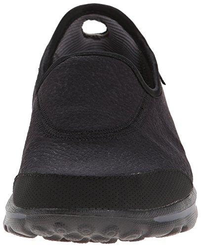 Skechers Go WalkAspire, Baskets Basses Femme Noir - Noir