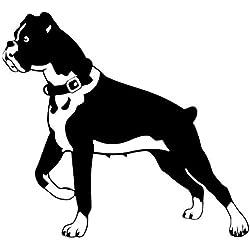 haotong11 15.2 * 14CM Chien Boxer Personnalité Drôle Animal Classique Voiture Autocollants Corps Décoration Decal 5 pièces