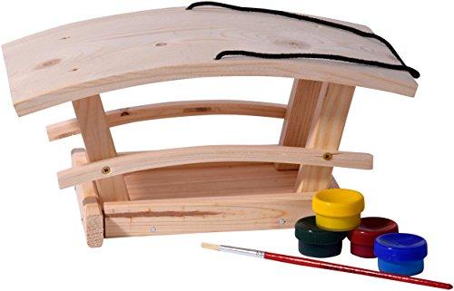 dobar 26051e Vogelhaus Bausatz für Kinder, aus Holz zum Aufhängen, 29 x 18 x 14 cm, bunt - 2