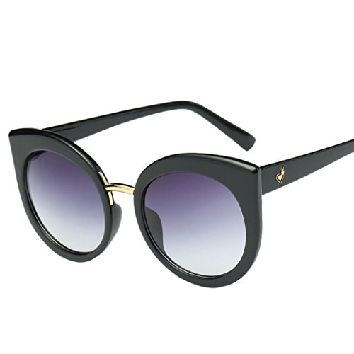 LCLrute 2018 Frauen Männer Vintage Cat Eye Spiegel stilvolle Marke Designer Retro klassische Sonnenbrille (D) (Designer-sonnenbrille Fall)