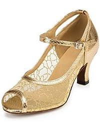FJY&WX Danza moderna Finta pelle Sneaker Intagli Basso Oro Personalizzabile , us9 / eu40 / uk7 / cn41