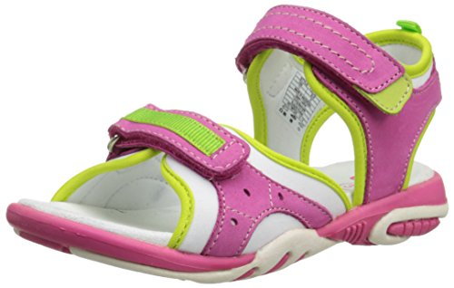 Umi Vione II, Girls' Ankle Strap Sandals, Pink (Hot Pink Multi), 13 Child UK (32 EU)