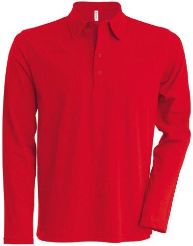 Kariban Langarm Poloshirt K205 Rot / Rot