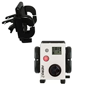 Vehicle/Car Vent Clip Fixed Cradle Holder for the GoPro Hero 2 with Lifetime Warranty