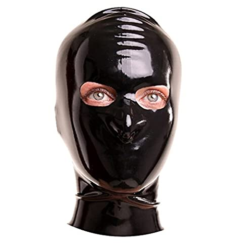 EXLATEX Masque en latex en caoutchouc et fetish avec ouvertures pour les yeux