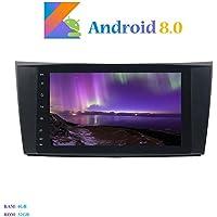 Hi-azul Android 8.0 Car Autoradio, Dash 8-Core RAM 4G ROM 32G Car Radio 8 Zoll Autonavigation Kopfeinheit Car Audio für Mercedes-Benz E-W211/E200/E220/E240/E270/E280 (Autoradio)