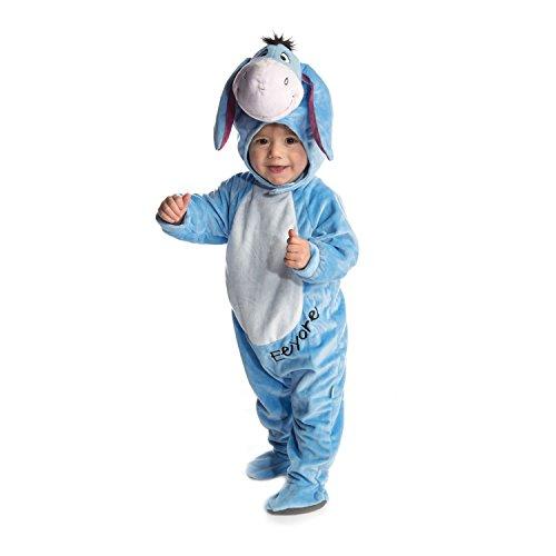 Disney Kostüme Babys Für (Disney Baby DCEEY-RPMO-18 - Kostüm - I-Aah - Fleece Strampler mit Kapuze,)