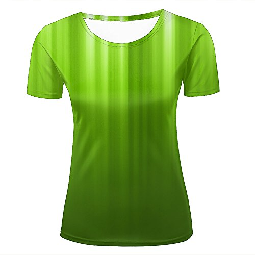 Bush Womens Light T-shirt (Womens 3D Print Fresh Gradient Light Green Summer Short Sleeve T Shirts Casual Graphics Tees XS)