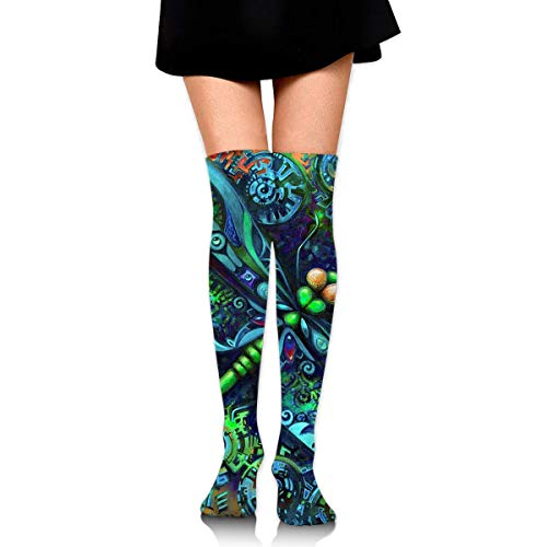 XIUZHIZH Women Teens Girls Over Knee Thigh High Boots Socks Tube Leg Warmers Stocking Cotton Cosplay Long Comfortable Leggings Hunting Camo Forest Hide Party Sock - Purple Knee High Boots