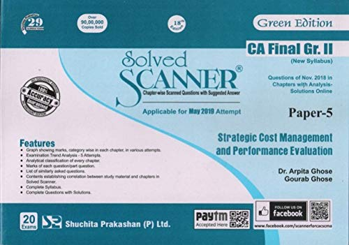 Solved Scanner CA Final Group-I (New Syllabus) Paper-5 Strategic Cost Management and Performance Evaluation