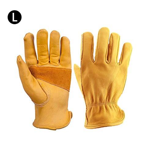 seasaleshop Gartenhandschuhe Herren Damen Arbeitshandschuhe Leder Wasserdicht Outdoor Handschuhe Dornenfest Garten Work Gloves Set