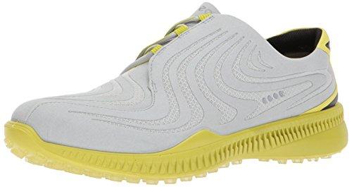 Ecco Herren M Golf S-Drive Golfschuhe, Grau (Concrete/Kiwi), 43 EU (Golf Ecco Schuhe)
