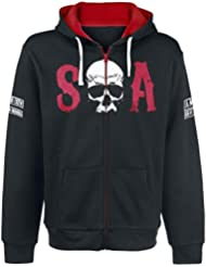 Sons Of Anarchy Red Sudadera capucha con cremallera Negro