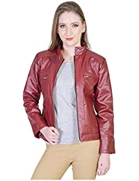 bd0c26af4cf5b Leather Women's Jackets: Buy Leather Women's Jackets online at best ...