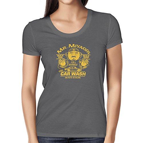 TEXLAB - Mr. Miyagi's Car Wash - Damen T-Shirt, Größe M, grau