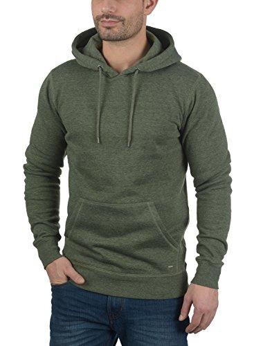 SOLID Bert Herren Kapuzenpullover Hoodie Sweatshirt aus hochwertiger Baumwollmischung Climb Ivy Melange (8785)