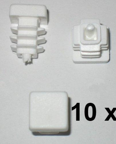 10 x Bouchon à lamelles carré rohrstopfen 12 x 12 mm (extérieur) Bouchon Blanc