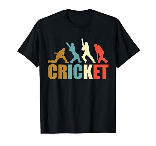Vintage Retro Stil Cricket-Spieler Fan Liebhaber Stil Shirt Cricket-stil