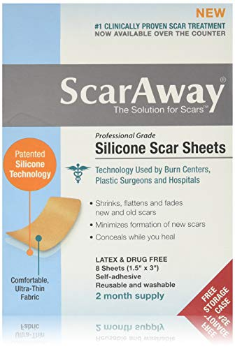 Scar Away Silicone Scar Sheets 1.5x3'' (8) by ScarAway