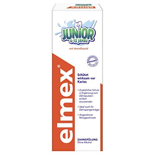 Elmex Junior Zahnspülung, 6-12 Jahre, 3er Pack (3 x 400 ml)