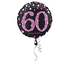 "Pallone foil standard 17"""" - 42 cm Pink Celebration 60"