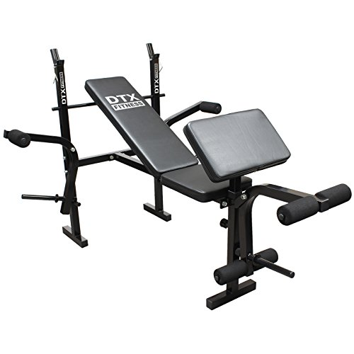 41HXnwqZWmL. SS500  - DTX Fitness All-in-One Dumbbell/Barbell Weight Bench with Butterfly & Preacher Curl