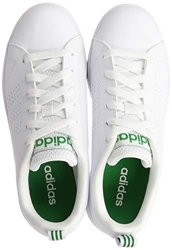 Adidas Advantage Clean Vs, Zapatillas para Hombre, Blanco (Ftwbla/Ftwbla/Verde), 43 1/3 EU