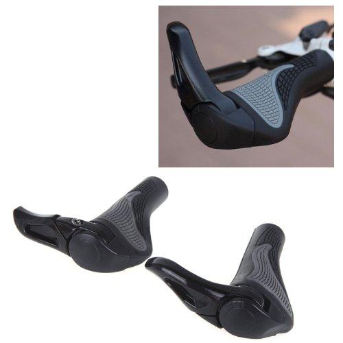 paxten (TM) Noir de vélo Mountain Bike Grips pour guidon de VTT ergonomiques Paire de bar fin Grips pour guidon