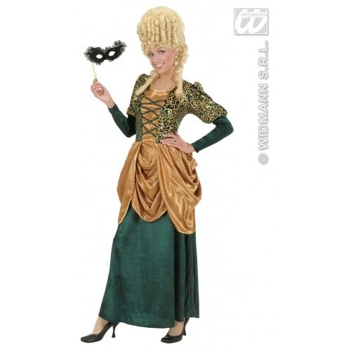 KULTFAKTOR GmbH Edelfrau Renaissance Damenkostüm grün-Gold - Edelfrau Renaissance Kostüm