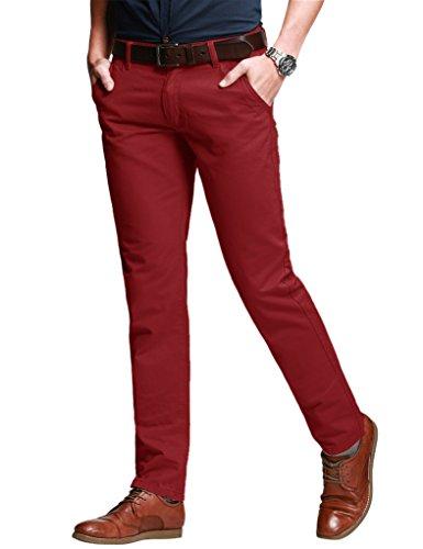 Match Herren Slim Casual Hose #8050 8050 Rot