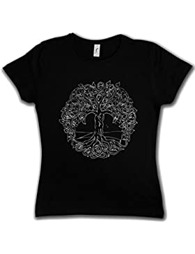 Urban Backwoods Yggdrasil VI Woman Girlie Donna T-Shirt - Yggdrasill Albero Mitologia norrena Arsen Celtic Irminsul...