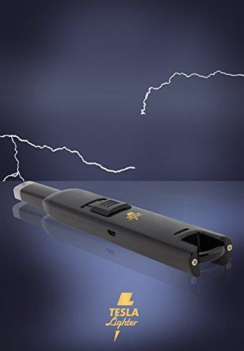41HXrcj4 pL - TESLA Lighter T07 | elektronisches USB Lichtbogen Stab Feuerzeug, Schwarz