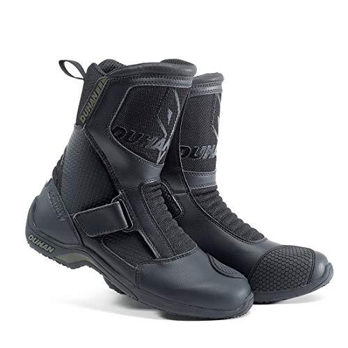 LLC-POWER Stivali da Moto Stivali, Militare tattico Outdoor Scarpe Traspiranti, con la Pasta Magica Regolabile,US10/EU45